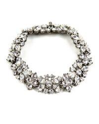 Ben-Amun | White Crystal Flower Bracelet | Lyst