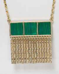 """Aqua - Green Minny Fringe Necklace, 29"""" - Lyst"""