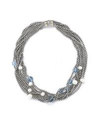David Yurman - Multicolor Pre-owned 8 Strand Necklace with Pearls and Blue Topaz - Lyst