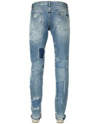 Dolce & Gabbana | Blue 17cm Gold Fit Destroyed Denim Jeans for Men | Lyst