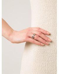 Hoorsenbuhs - Metallic 'dame Tri-link' Ring - Lyst