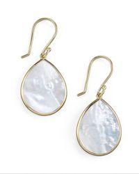Ippolita - White Small Teardrop Earrings - Lyst