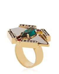 Iosselliani | Multicolor Geometric Floral Ring | Lyst