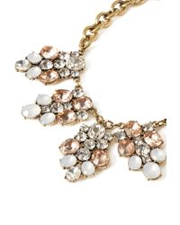 Forever 21 | Metallic Faux Gem Cluster Necklace | Lyst