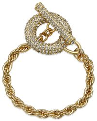 INC International Concepts | Metallic Gold-tone Toggle Bracelet | Lyst