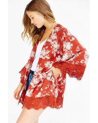 Kimchi Blue - Brown Boardwalk Kimono Jacket - Lyst