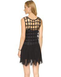 Free People | Black Sequin Shell Drop Waist Dress | Lyst