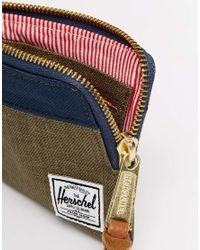 Herschel Supply Co. - Green Johnny Zip Wallet for Men - Lyst