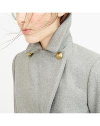 J.Crew | Gray Petite Wool Melton Peacoat | Lyst
