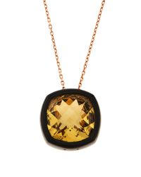 Roberto Coin - Metallic 18k Rose Gold Ipanema Citrine Necklace - Lyst