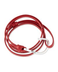Miansai | Red Hook Leather Bracelet | Lyst