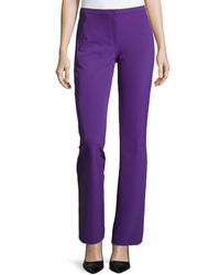 ESCADA | Purple Boot-cut Zip-pocket Pants | Lyst