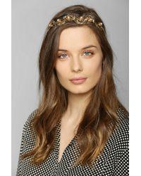 Urban Outfitters - Metallic Pearl Leaf Headband - Lyst