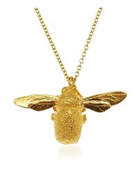 Alex Monroe   Pink Gold Vermeil Bumblebee Necklace   Lyst