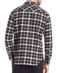 Polo Ralph Lauren - Black Plaid Western Sportshirt for Men - Lyst