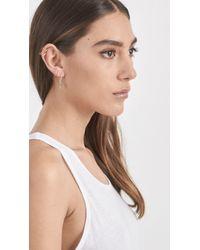Loren Stewart - Metallic Triangle Safety Pin Earrings - Lyst