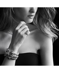 David Yurman | Metallic Renaissance Bracelet With Diamonds, 10mm | Lyst