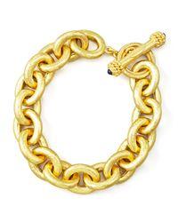 Elizabeth Locke - Metallic Heavy Oval Link 19k Gold Bracelet - Lyst