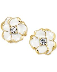 kate spade new york | White Gold-tone Beach House Bouquet Stud Earrings | Lyst