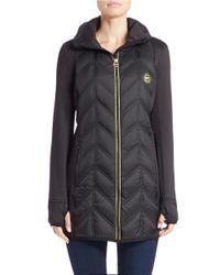 MICHAEL Michael Kors | Black Packable Quilted Coat | Lyst