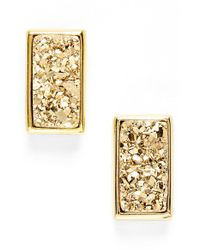 Marcia Moran | Metallic Drusy Stud Earrings | Lyst