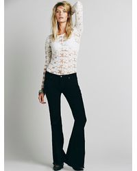 Free People | Black Womens Fp Cord Super Flare | Lyst