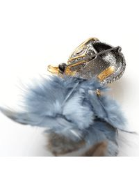 Alexis Bittar | Blue Feather And Stone Starling Pin | Lyst