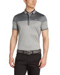 BOSS Green | Gray Regular-fit Golf Polo Shirt 'pavel' In Cotton for Men | Lyst