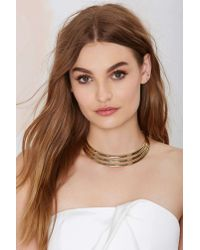 Nasty Gal | Metallic Just Tri Me Collar Necklace | Lyst