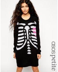 8bdab9e291 ASOS Halloween Skeleton Jumper Dress - Lyst