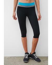 Forever 21 | Black Active Yoga Capri Leggings | Lyst