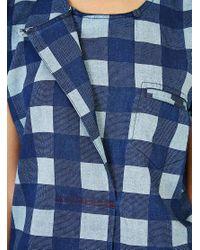 SIDELINE - Blue Pearl Top Indigo Check - Lyst