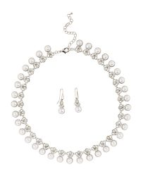 Jacques Vert | Metallic Pearl Diamante Jewellery Set | Lyst