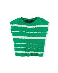 Ralph Lauren | Green Tie-dyed Cotton Shirt | Lyst