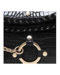 Carvela Kurt Geiger | Black Char Saddle Bag | Lyst