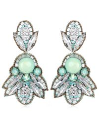 Suzanna Dai | Blue Montparnasse Drop Earrings, Turquoise/silver | Lyst