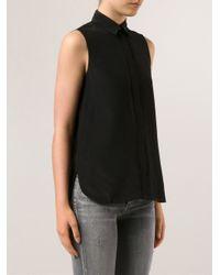 Vince - Black Button Up Shirt - Lyst