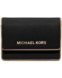 Michael Kors | Black Michael Accordion Card Case | Lyst