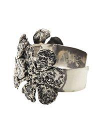 Anndra Neen - Metallic 'melted Flower' Cuff - Lyst