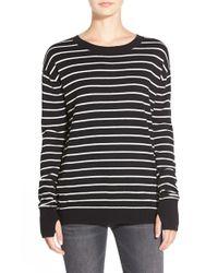 Pam & Gela - Black Twisted Back Pullover - Lyst