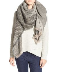 Madewell | Gray 'origami' Scarf | Lyst