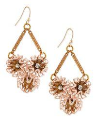 Lulu Frost - Pink Vivien Flower Cluster Earrings - Lyst