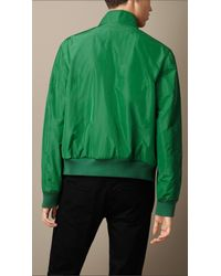 Burberry | Green Zip Front Packaway Blouson for Men | Lyst