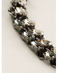 Lanvin | Metallic Crystal Cable Chain Necklace | Lyst