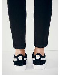 Free People - Black Suede Classic Sneaker - Lyst