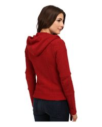 Lucky Brand | Red Hooded Active Jacket | Lyst
