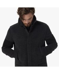 James Perse - Gray Striped Sleeve Winter Coat for Men - Lyst