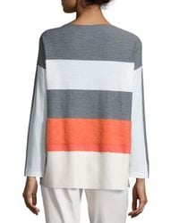 Lafayette 148 New York - Metallic Oversized Needle-punch Striped Topper - Lyst