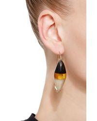 Marni | Orange Colorblock Horn Drop Earrings | Lyst