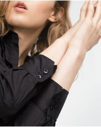 Zara | Black Frilly Blouse | Lyst